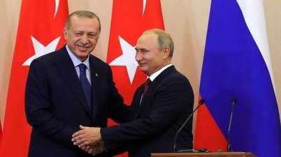 صورة الرئيس الروسي والرئيس التركي