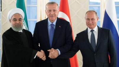 أردوغان بوتين روحاني