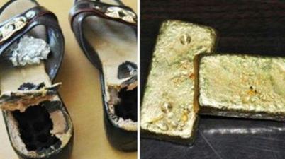 حذاء شابة روسية وذهب